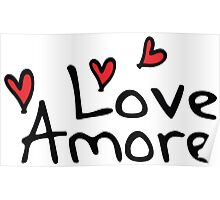 LOVE AMORE Poster