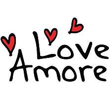 LOVE AMORE Photographic Print