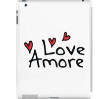 LOVE AMORE iPad Case/Skin