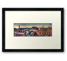 Over the roofs Framed Print