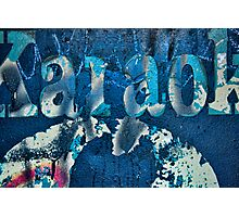 Karaoke Blue Photographic Print