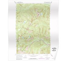 USGS Topo Map Washington State WA Labyrinth Mtn 241840 1965 24000 Poster