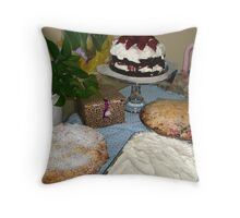 Easter Pies and Cakes Throw Pillow