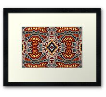 Crinkly Rhombus and Odd Shapes Framed Print