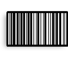 HELLO in Barcode Canvas Print