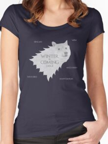 House Doge - Winter Is Coming Women's Fitted Scoop T-Shirt