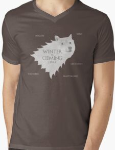 House Doge - Winter Is Coming Mens V-Neck T-Shirt
