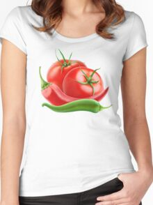 Hot sauce ingredients Women's Fitted Scoop T-Shirt