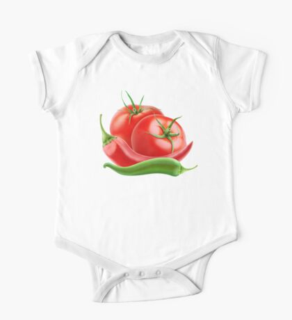 Hot sauce ingredients One Piece - Short Sleeve