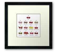 I Love My Cheeky Cherries! Framed Print
