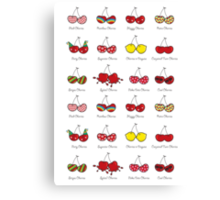 Oh My Cheeky Cherries! Canvas Print