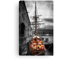 Tall Ship At Liverpool Canvas Print