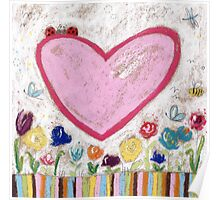 A Spring Heart Poster