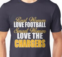 Real Women Love Football Smart Women Love The Chargers Unisex T-Shirt