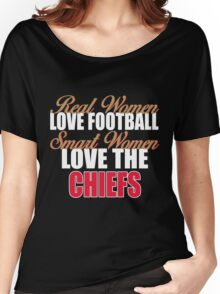 Real Women Love Football Smart Women Love The Chiefs Women's Relaxed Fit T-Shirt