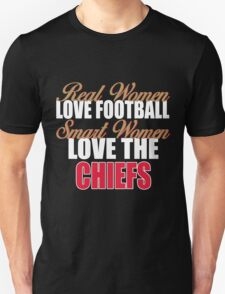 Real Women Love Football Smart Women Love The Chiefs Unisex T-Shirt