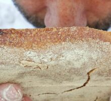 Baker inspects the baked bread Sticker