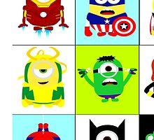 Minions - superhero mashup by BURPdesigns