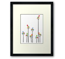 Tweeting Birds (on light) Framed Print