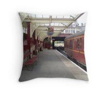 Haworth Railway Station Throw Pillow