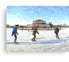 Ice Skaters Canvas Print