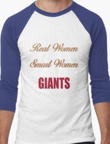 Real Women Love Football Smart Women Love The Giants Men's Baseball ¾ T-Shirt