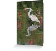 Tri Color With Reflections Greeting Card