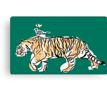 The King and His Tiger Canvas Print