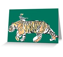 The King and His Tiger Greeting Card