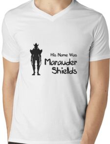 His Name Was Marauder Shields Mens V-Neck T-Shirt