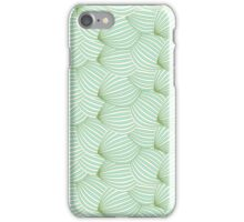 Vintage trendy green cream watermelon pattern  iPhone Case/Skin