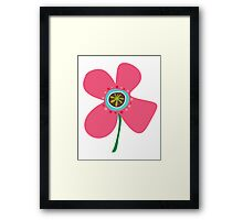 Pink Daisy Pop Framed Print
