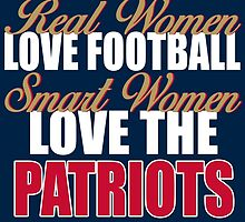 Real Women Love Football Smart Women Love The Patriots by sports-tees