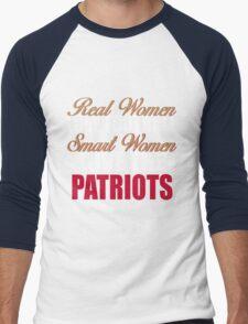 Real Women Love Football Smart Women Love The Patriots Men's Baseball ¾ T-Shirt