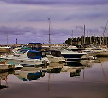A Quiet Day at the Harbour by Robin Webster
