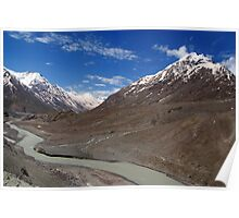 The Chandra River in the Lahaul Valley Poster