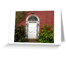 The Regency Doorway Greeting Card