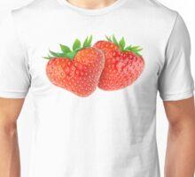 Pair of heart-shaped strawberries Unisex T-Shirt