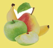 Apple, pear and banana Kids Tee