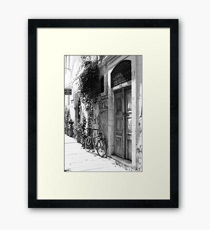 Venetian door case, Crete Framed Print