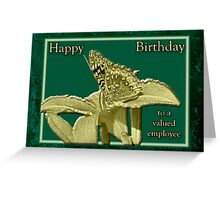Employee Birthday Card - Great Spangled Fritillary Butterfly Greeting Card