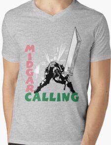 Midgar Calling Mens V-Neck T-Shirt