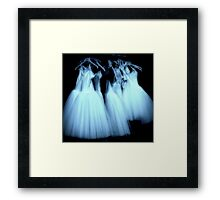 Hanging around, waiting for an angel Framed Print