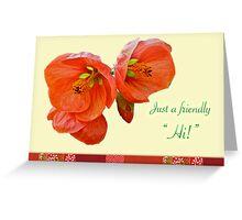 Hi Hello Card - Floral Greeting Card