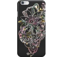 Trendy pink watercolor hand drawn flowers  iPhone Case/Skin