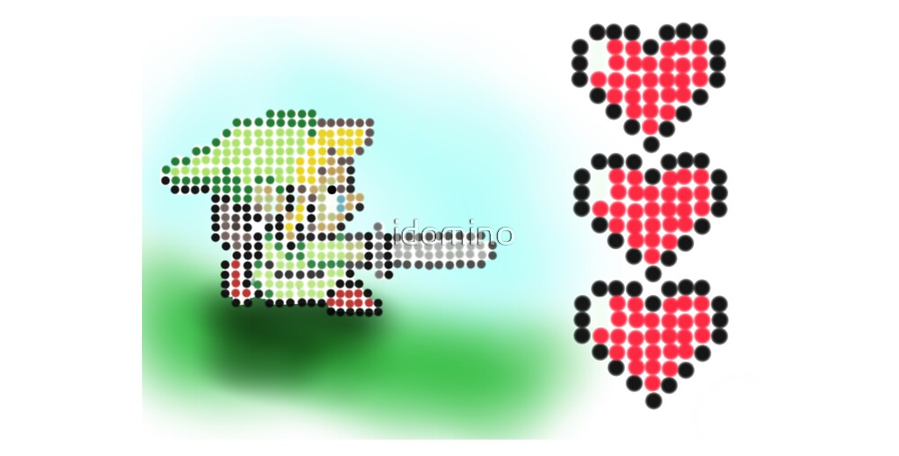 zelda pixel art by idomino