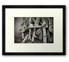 Wood Pile Framed Print