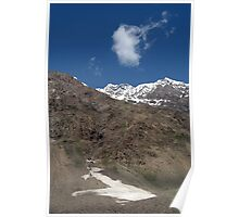 Mountains in Lahaul Valley Poster