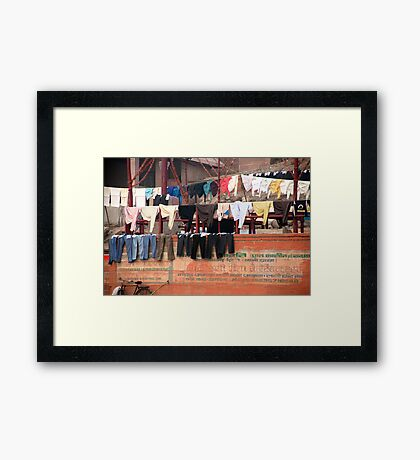 Monday's The Day We Do The Wash Framed Print