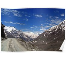 On the Road in Lahaul Valley Poster